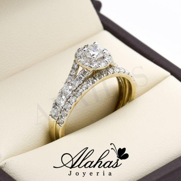 Duo de boda oro 14k diamantes ddiam-032