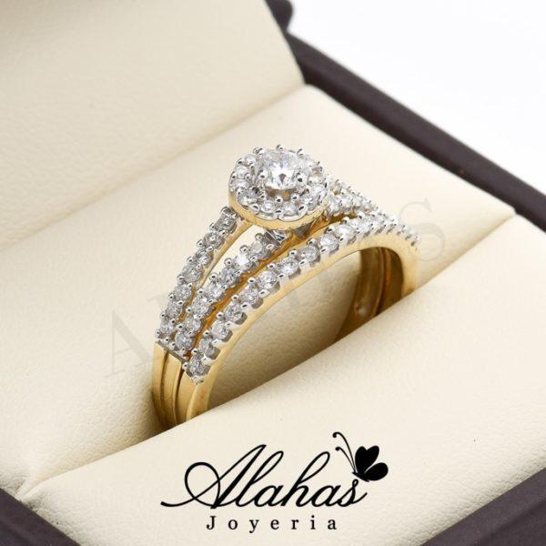 Duo de boda oro 14k diamantes ddiam-035