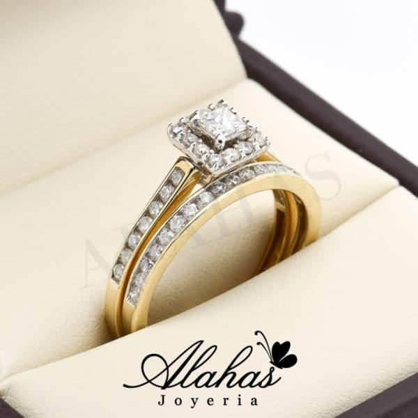 Duo de boda oro 14k diamantes ddiam-044