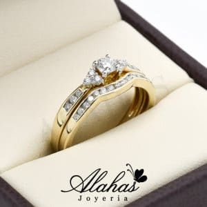 Duo de boda oro 14k diamantes ddiam-045