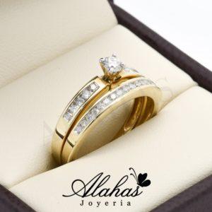 Duo de boda oro 14k diamantes ddiam-056