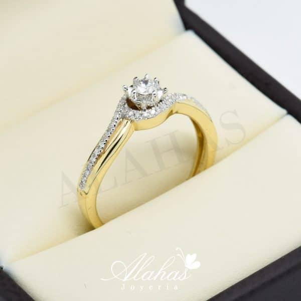 Anillo de compromiso Oro 14k diamantes sdiam-056