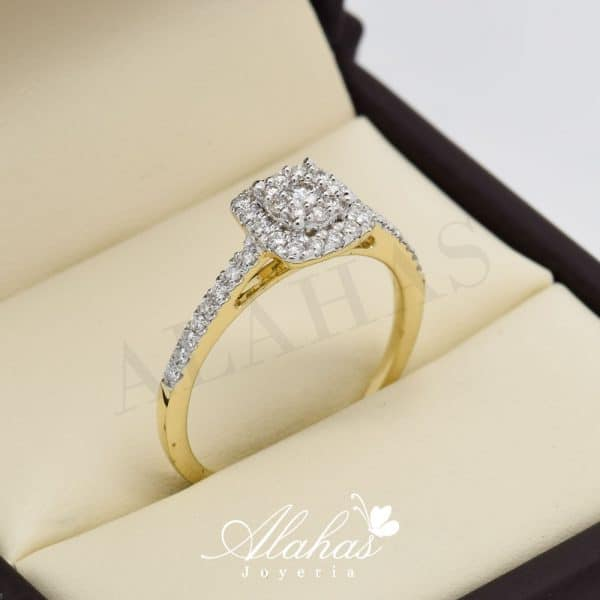 Anillo de compromiso Oro 14k diamantes sdiam-081