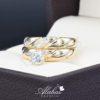 Duo de boda oro 14k zirconias do-049