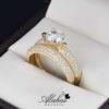 Duo de boda Oro 14k zirconias Joyeria Alahas do-064