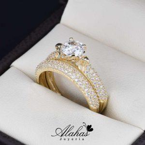 ac2b350585e0 Duo de boda Oro 14k zirconias Joyeria Alahas do-064
