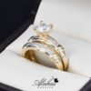 Duo de boda oro 14k zirconias Joyeria Alahas Do-065
