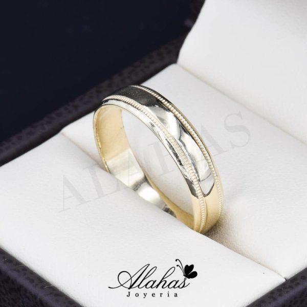 Alianza de boda Oro 14k 5mm con Borde