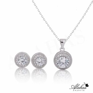 Set en plata 925 con zirconias SP-024