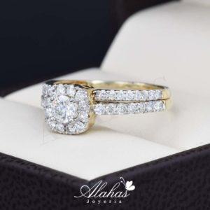 Duo de boda oro 14k con diamantes ddiam-072