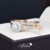 Duo de boda oro 14k con diamantes ddiam-073