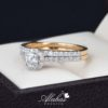 Duo de boda oro 14k con diamantes ddiam-075