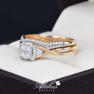 Duo de boda oro 14k con diamantes ddiam-076
