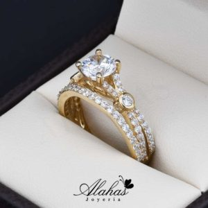 Duo de boda oro 14k Joyeria Alahas do-066