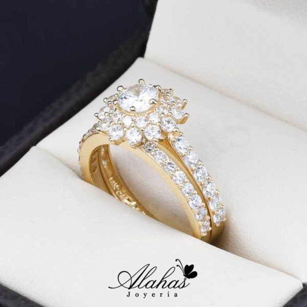 Duo de boda oro 14k Joyeria Alahas do-067
