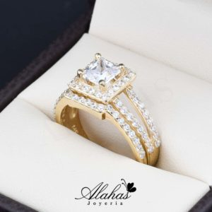Duo de boda oro 14k Joyeria Alahas do-068