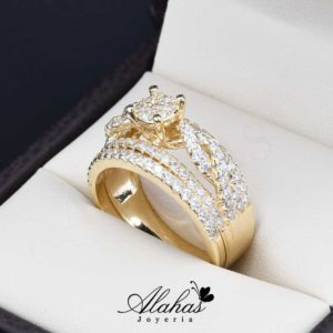 Duo de boda oro 14k Joyeria Alahas do-069