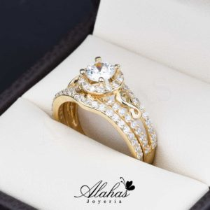 Duo de boda oro 14k Joyeria Alahas do-070