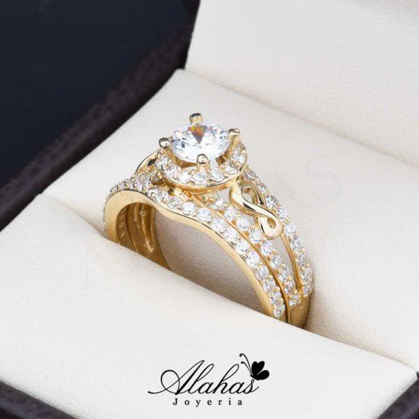 Duo de boda oro 14k Joyeria Alahas do-070