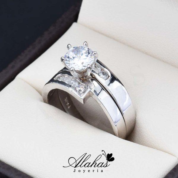 Duo de boda oro 14k Joyeria Alahas do-071