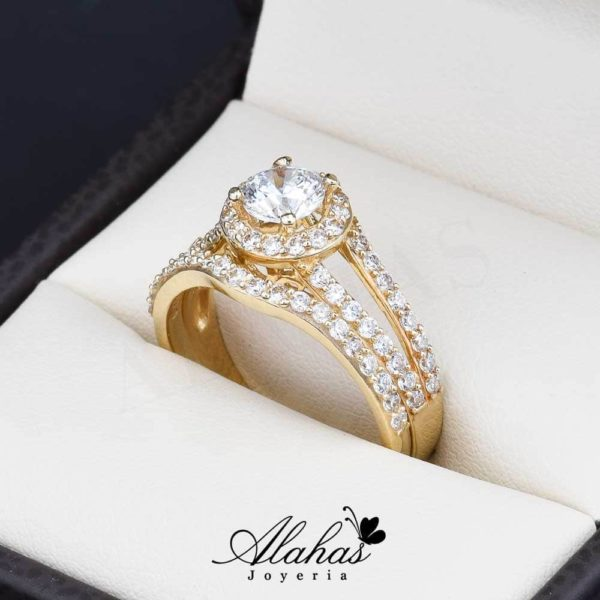 Duo de boda oro 14k Joyeria Alahas do-072