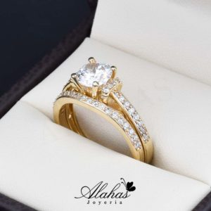 Duo de boda oro 14k Joyeria Alahas do-073