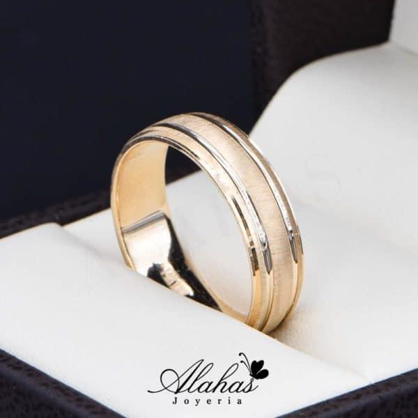 Alianza de boda oro 14k Joyeria Alahas AO-021