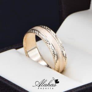Alianza de boda oro 14k Joyeria Alahas AO-022