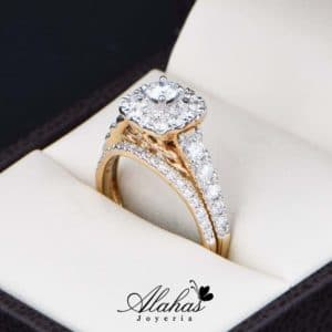 Duo de boda Oro 14k con Diamantes DDIAM-077