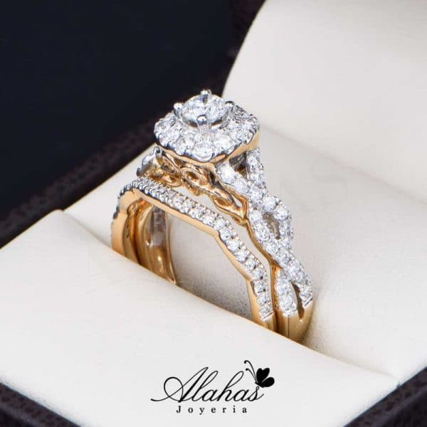 Duo de boda Oro 14k con Diamantes DDIAM-078