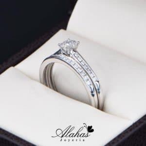 Duo de boda Oro 14k con Diamantes DDIAM-081