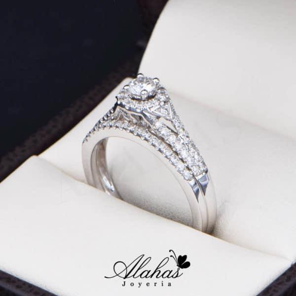 Duo de boda Oro 14k con Diamantes DDIAM-082