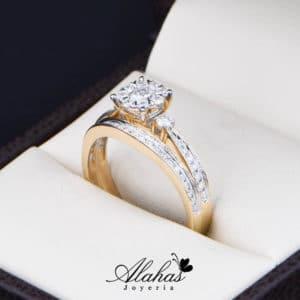 Duo de boda Oro 14k con Diamantes DDIAM-083