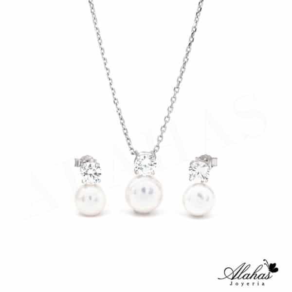 Set de Perla en Plata 925 con zirconias SP-027