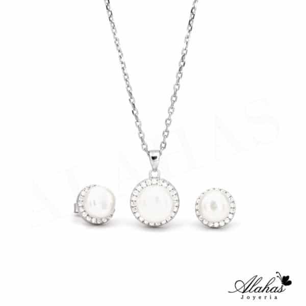 Set de Perla en Plata 925 con zirconias SP-029