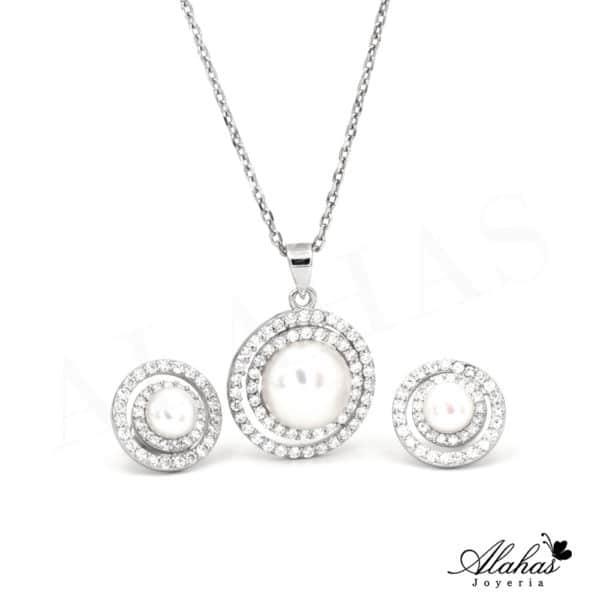 Set de Perla en Plata 925 con zirconias SP-031