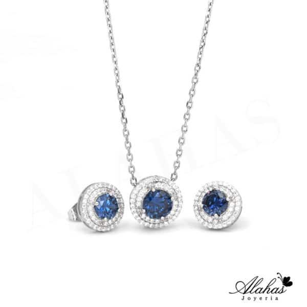 Set Azul en Plata 925 con zirconias SP-036
