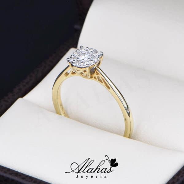 Anillo de Compromiso Oro 14k con diamantes SDIAM-086