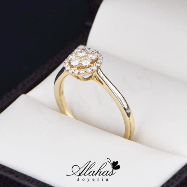 Anillo de Compromiso Oro 14k con diamantes SDIAM-088