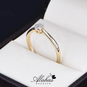 Anillo de Compromiso Oro 14k con diamantes SDIAM-090