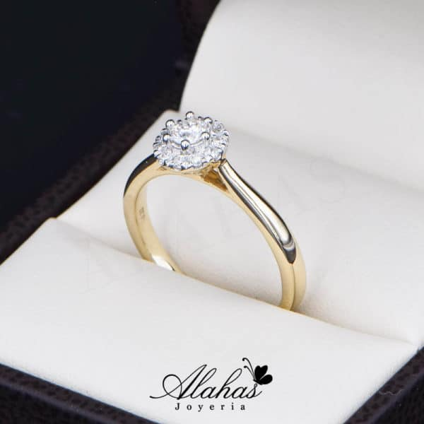 Anillo de Compromiso Oro 14k con diamantes SDIAM-092