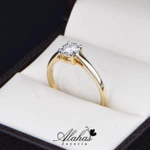 Anillo de Compromiso Oro 14k con diamantes SDIAM-094
