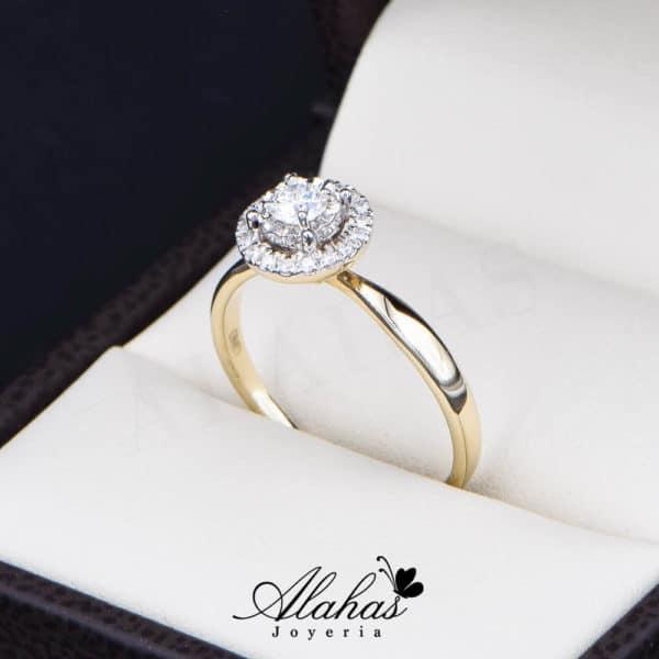 Anillo de Compromiso Oro 14k con diamantes SDIAM-096