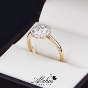 Anillo de Compromiso Oro 14k con diamantes SDIAM-098