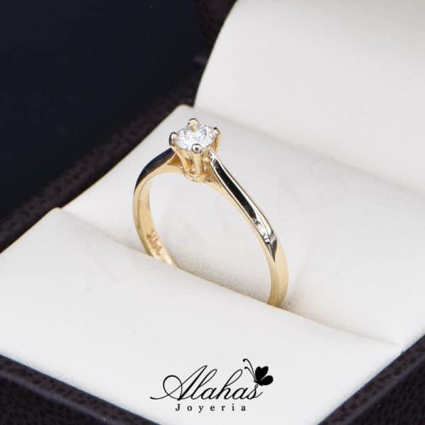 Anillo de Compromiso Oro 14k con diamantes SDIAM-106