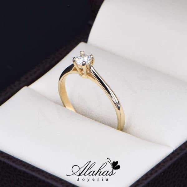 Anillo de Compromiso Oro 14k con diamantes SDIAM-107