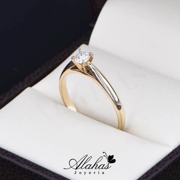 Anillo de Compromiso Oro 14k con diamantes SDIAM-108