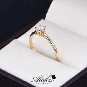 Anillo de Compromiso Oro 14k con diamantes SDIAM-109