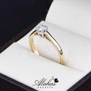 Anillo de Compromiso Oro 14k con diamantes SDIAM-110