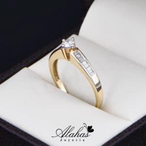 Anillo de Compromiso Oro 14k con diamantes SDIAM-111